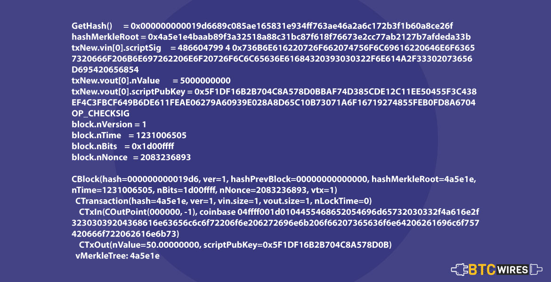 Genesis block data